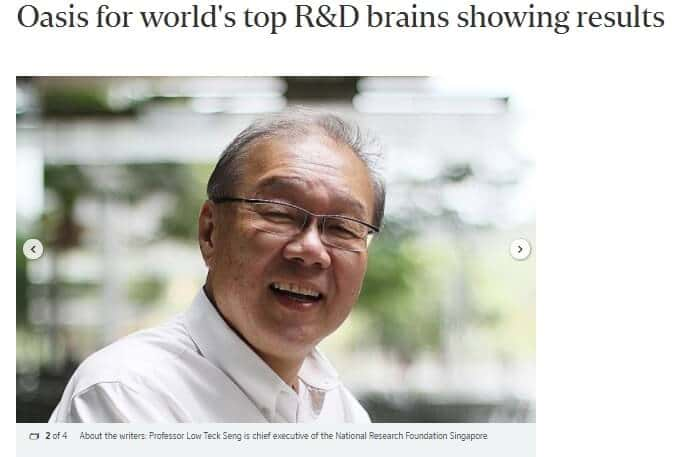 Oasis for world's top R&D brains showing results